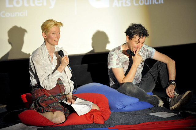 Tilda Swinton and Mark Cousins at the 8 1/2 Foundation screening