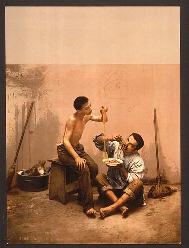 [Macaroni seller, Naples, Italy] (LOC)