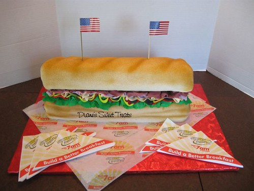 Cake - for Subway Sandwich 4th of July Picnic