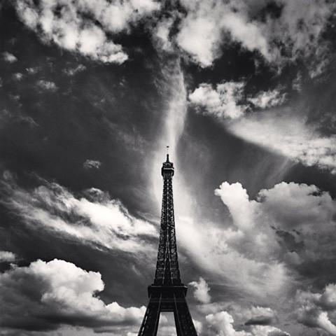 Eiffel Tower, Study 6, Paris, by Michael Kenna 2007
