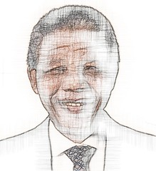 mandela_sketch by Ronounours
