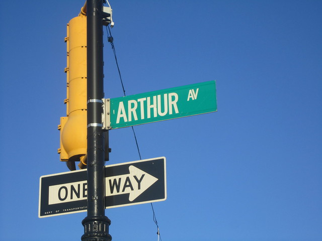 Arthur Avenue Sign in the Bronx