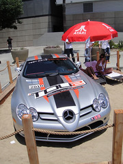 race car, automobile, vehicle, performance car, automotive design, mercedes-benz, mercedes-benz slr mclaren, antique car, land vehicle, supercar, sports car,