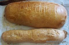 vegetable(0.0), hot dog bun(0.0), produce(0.0), dish(0.0), bratwurst(0.0), hot dog(0.0), bread(1.0), baked goods(1.0), ciabatta(1.0), food(1.0), cuisine(1.0), baguette(1.0),