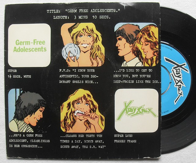1978 x ray spex 1970s germ free adolescents picture sleeve 7 inch 45