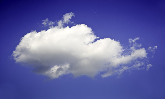 Single white cloud on a clear blue sky Flickr - Photo Sharing!