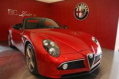 race car(1.0), automobile(1.0), alfa romeo(1.0), vehicle(1.0), automotive design(1.0), alfa romeo 8c(1.0), alfa romeo 8c competizione(1.0), land vehicle(1.0), supercar(1.0), sports car(1.0),