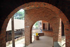 arch, property, architecture, hacienda, brick, brickwork,
