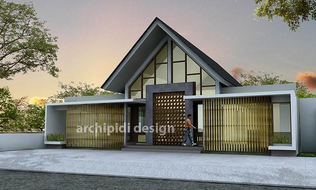 desain rumah tropis modern minimalis