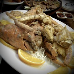 mud crab fried in buttery batter with salted egg y…