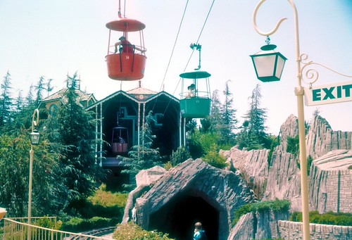 Fantasyland Skyway Station - Disneyland 1959