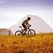 Radfahrer mit Grimming im Hintergrund, foto: Steiermark Tourismus