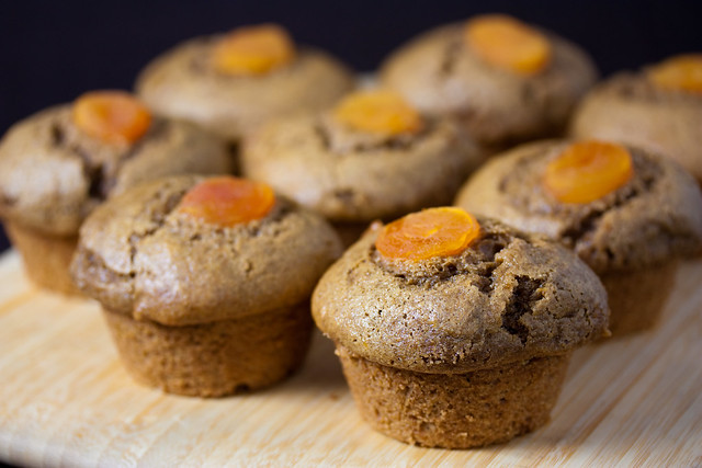 Vegan Apricot Rye Muffins