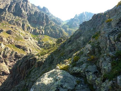 Vue globale de toute la montée vers Bocca di Saltu