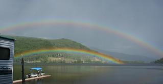 Double Rainbow over Natanis Pond