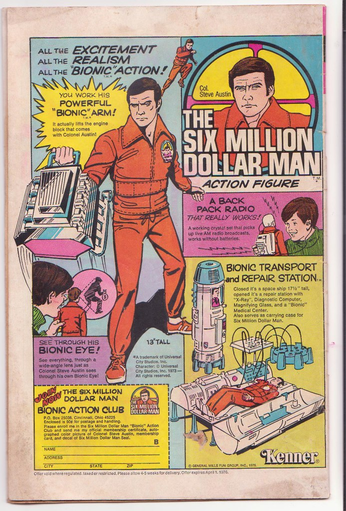 Six Million Dollar Man figure ad