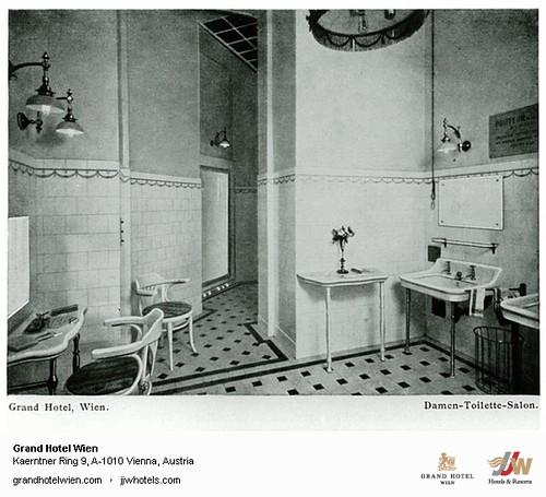 Historic Photo - Old Damen Toilette at Grand Hotel Wien in Vienna
