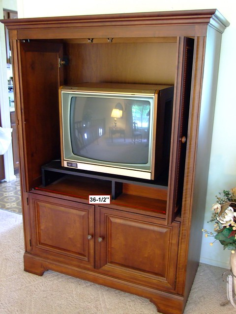 Cherry Wood Armoire Tv Entertainment Center Flickr