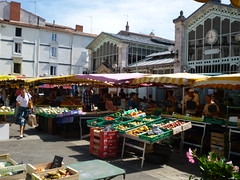 La Rochelle market stalls