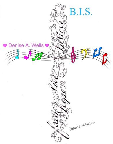 Cross Tattoo Design by Denise A Wells