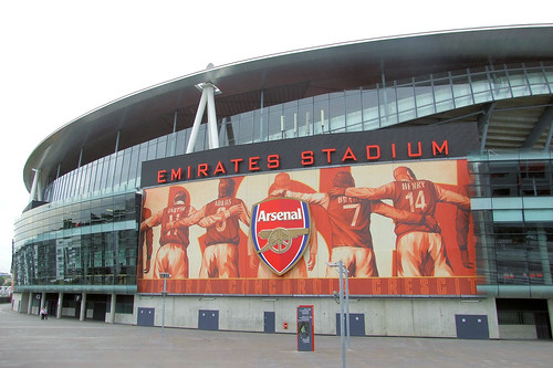 Flickriver photoset 39 arsenal fc museum in london 39 by perryolf for Emirates stadium mural