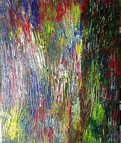 On black mon premier tableau acrylique sur toile peinture au couteau by lily anna large for Peinture acrylique sur toile