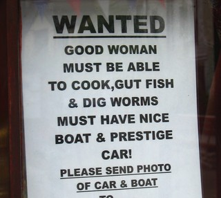 Sign in Polperro shop window