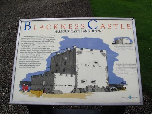Blackness Castle information board. (IMG_0755)