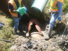 Repair at creek crossing