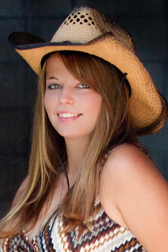 ... Senior Girl with Cowboy Hat On  636562d5bb8