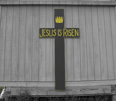 2006-07-19 - United States - New York - Long Island - North Fork - Jesus is Risen - Cutout - Yellow