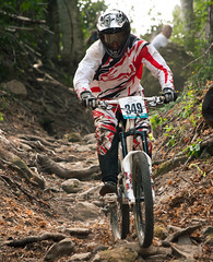 bicycle motocross(0.0), enduro(0.0), cyclo-cross(0.0), motorcycle racing(0.0), downhill(0.0), racing(1.0), bicycle racing(1.0), mountain bike(1.0), soil(1.0), vehicle(1.0), mountain bike racing(1.0), sports(1.0), race(1.0), freeride(1.0), sports equipment(1.0), downhill mountain biking(1.0), cycle sport(1.0), extreme sport(1.0), cross-country cycling(1.0), land vehicle(1.0), mountain biking(1.0), bicycle(1.0),