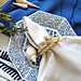 rope napkin rings+beach table setting+vintage mikasa dishes