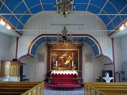 Altar of the Havnar Kirkja, Torshavn