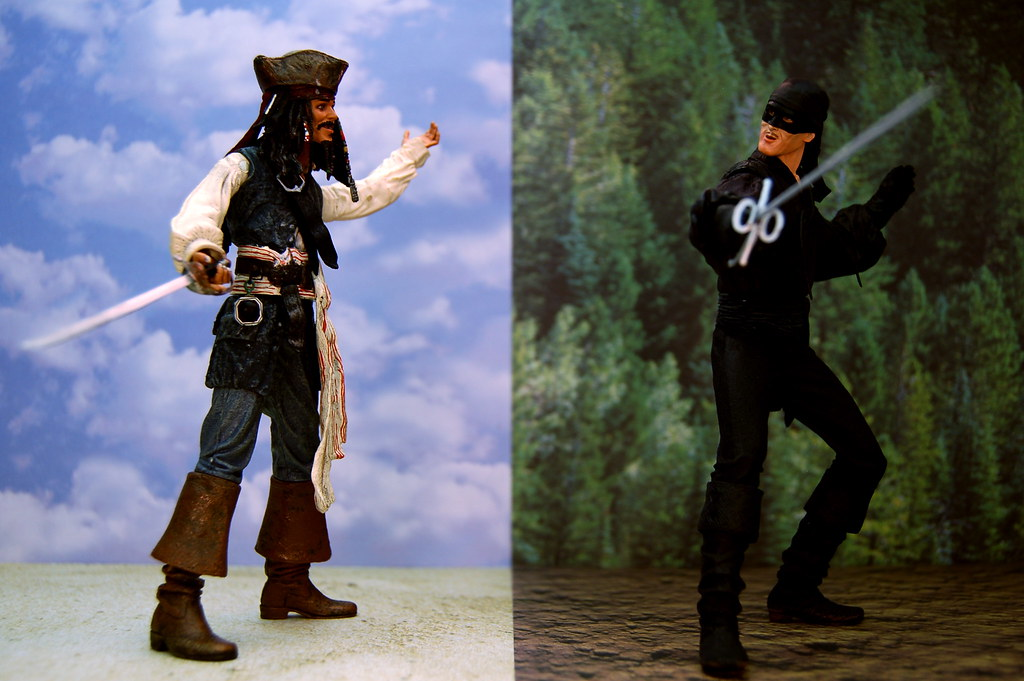 Captain Jack Sparrow vs. Dread Pirate Roberts (230/365)