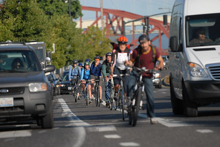 Bike traffic on N. Interstate