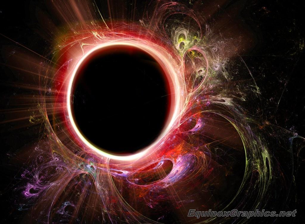 Image:Black hole singularity for energy generation (Hawking radiation)