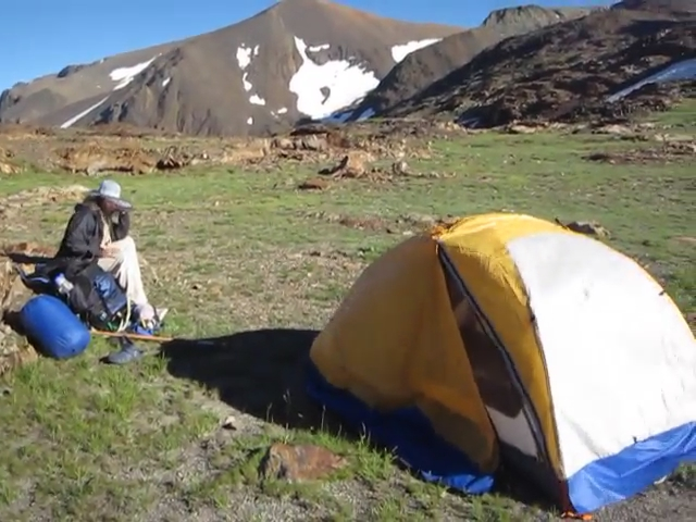0641 Parker Pass campsite panorama video