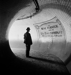 British Museum Underground Station, London, 1937, by E.O. Hoppe