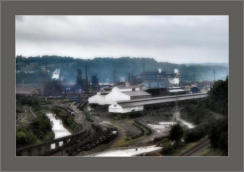 railroad bridge plant mill industry train us pittsburgh pennsylvania steel united railway trains pa edgar thomson states thompson westinghouse braddock