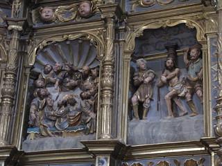 Iglesia de San Benito - Detalle retablo procedente de iglesia de Santiago