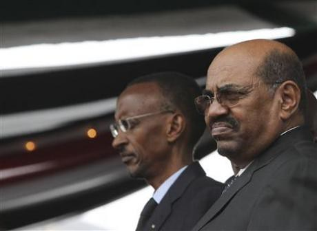 Sudan President Omar Hussein al-Bashir along with Rwandan President Paul Kagame at the adoption ceremony for a new constitution in Kenya. Bashir was welcomed in the East African state. by Pan-African News Wire File Photos