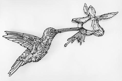 惊叹的金属丝艺术