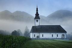 Slovenia - Bohinjska Bistrica - Church at dawn