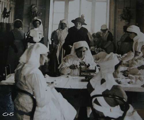 Cholmondley Family visits a local hospital 1916 by Stocker Images