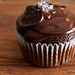 Salted caramel dark chocolate cupcake