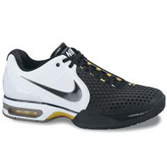 Nike Mens Air Max Courtballistec 3.3 Black White Yellow Ra