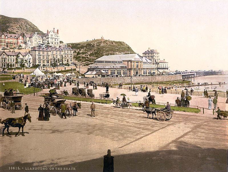 The beach at Llandudno