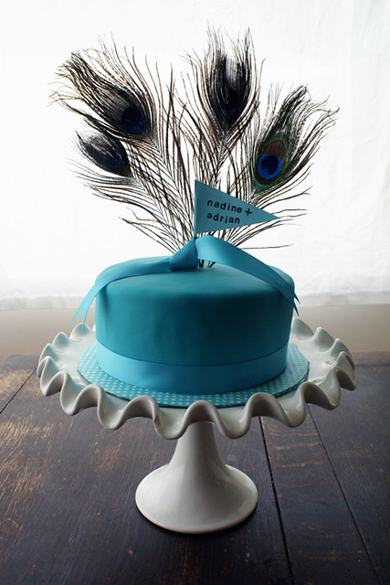peacock themed cutting cake for wedding wwwcococakecom