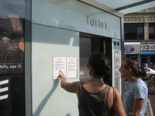corona plaza toilet